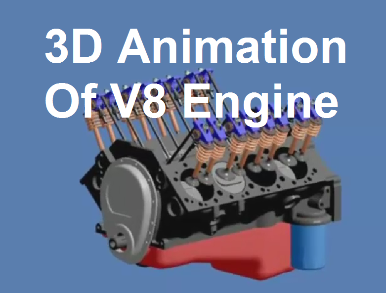 3D Animation Of V8 Engine